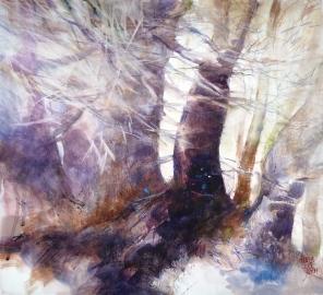 2050, l' âme des arbres nous parle, septembre 2015,46x50cm