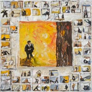 Isabelle Hervé-Interrogation- Acrylique sur toile -80x80cm