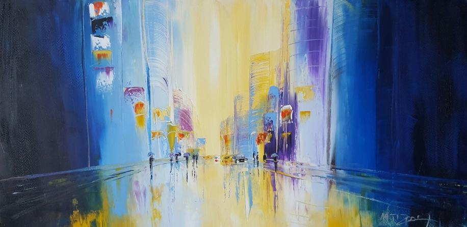 ARTIZE, Après la pluie, huile dur toile, format 50x100