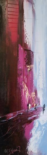 ARTIZE, Un peu de prune, huile sur toiles, format 25x75