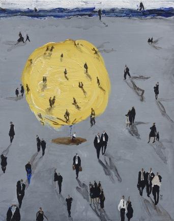 Ballon Jaune -Acrylique sur toile - 50 x 40 cm -2016-180dpi