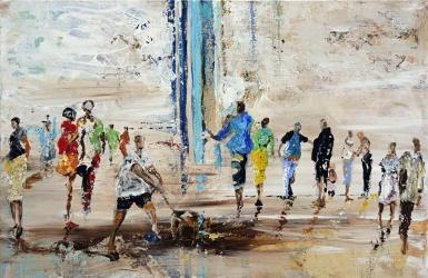 Dans la rue -Acrylique sur toile - 100 x 65cm 180dpi